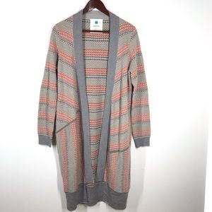 Anthro Sparrow Long Open Cardigan Wool Size M